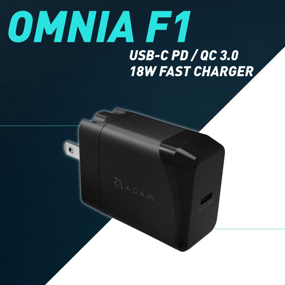 OMNIA F1 USB-C PD 3.0 Fast Wall Charger 18W