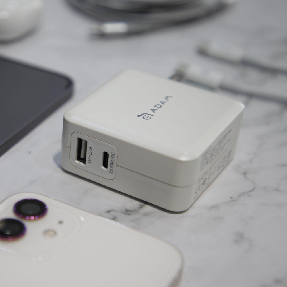 OMNIA F2 USB-C to USB-C Fast Charging Kit-US Plug
