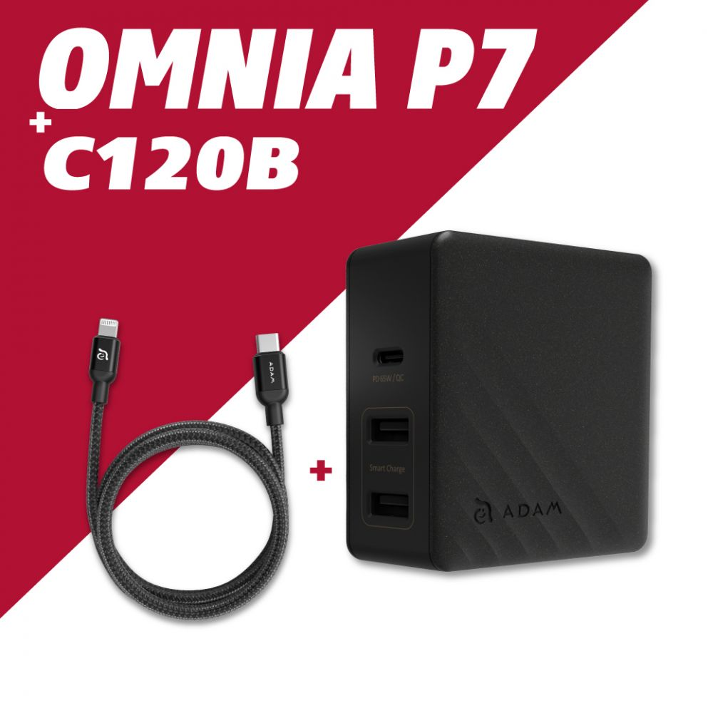 OMNIA P7 USB-C PD / QC3.0 Fast Charging Wall Charger 74W