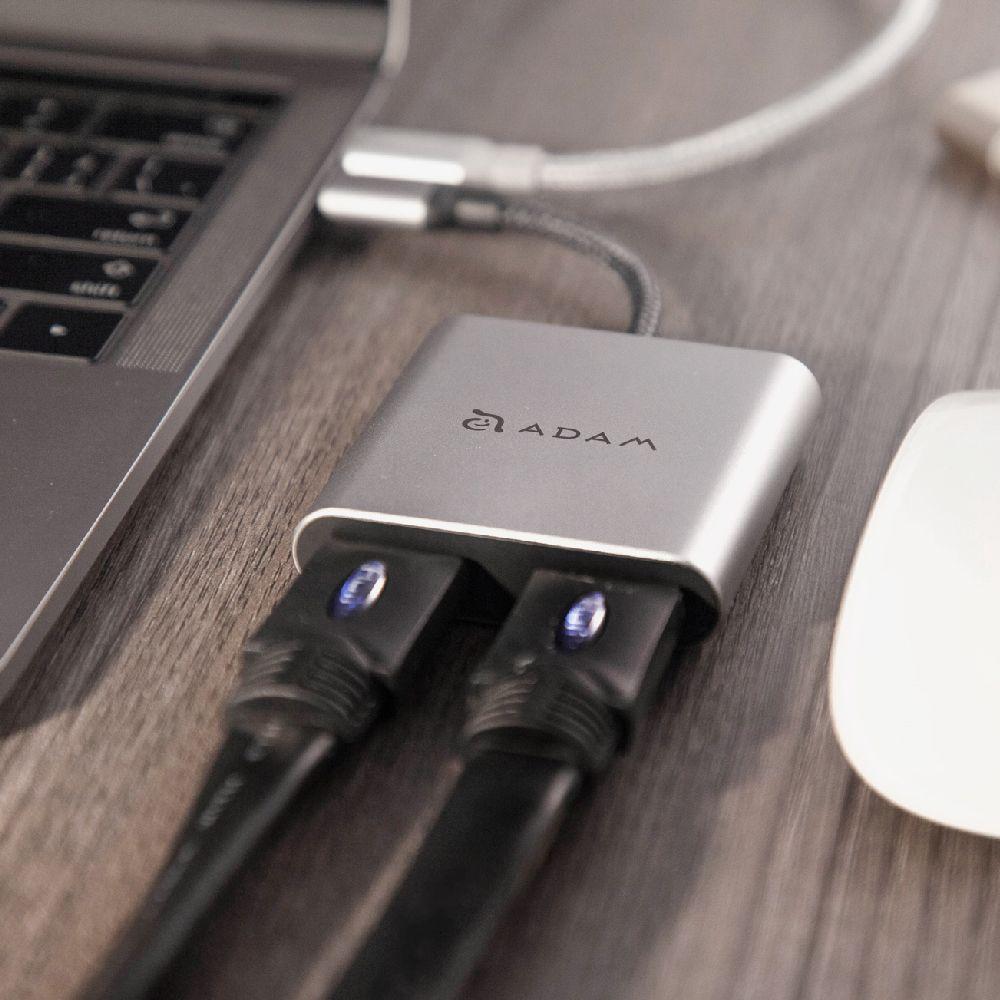 CASA Hub H2 USB-C to Dual 4K HDMI Adapter