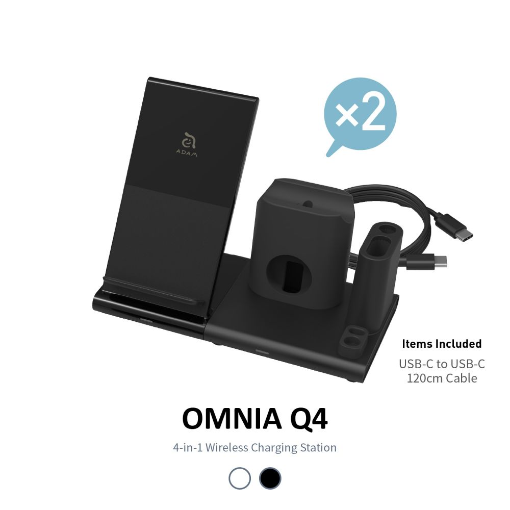 OMNIA Q4 15W 4-in-1 Wireless Charging Station * No Adapter Included * x 2