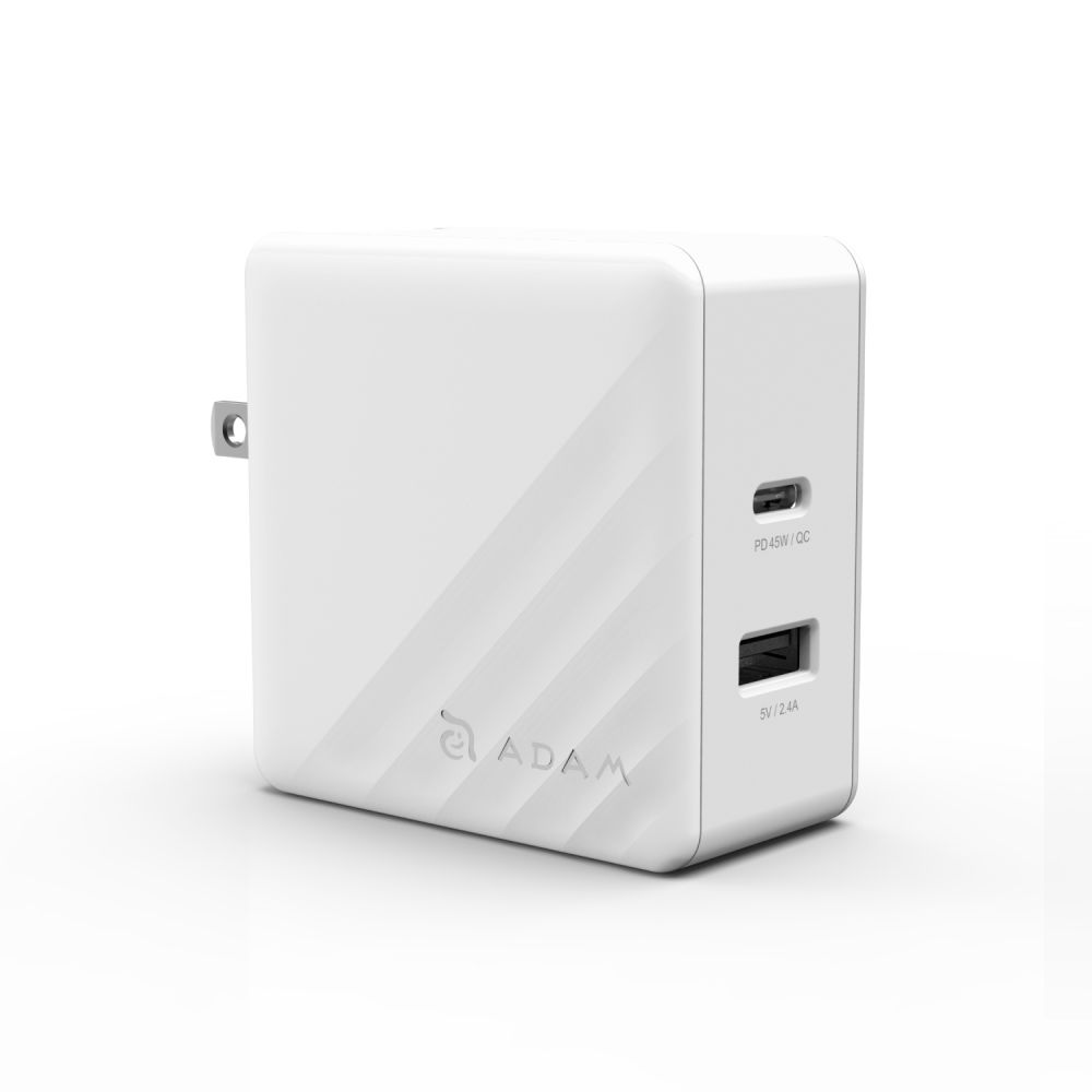 OMNIA P5 White Pearl Fast Charging Wall Charger