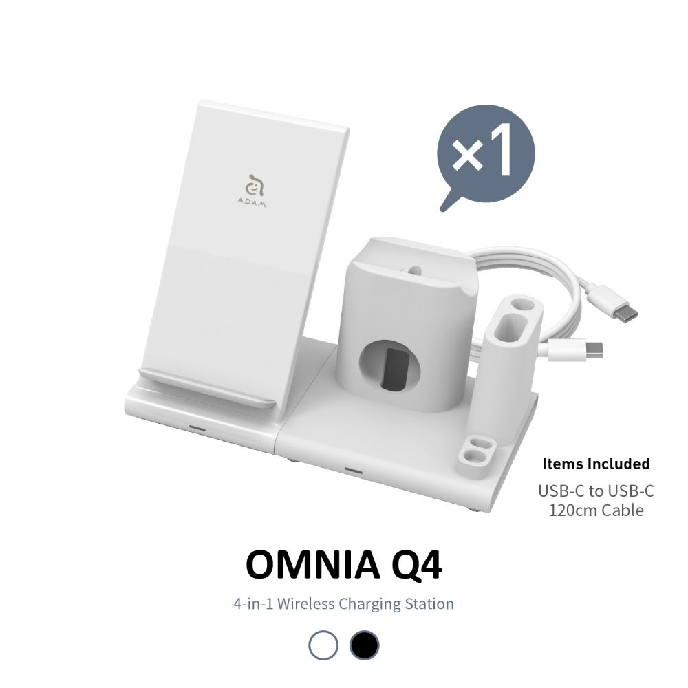 OMNIA Q4 15W 4-in-1 Wireless Charging Station * No Adapter Included *
